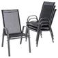 Zestaw 4 krzeseł ogrodowych b-stock krzesło specjalne z wysokim oparciem