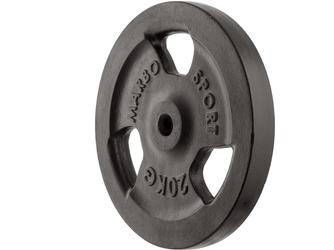 Obciążenie żeliwne 20 kg mw-o20-kier - marbo sport - 20 kg