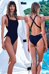 Strój kąpielowy monokini brazylijskie czarny