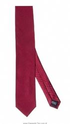 Bordowy krawat jedwabny, wąski 6,5cm