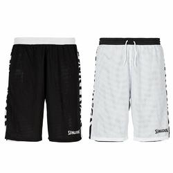 Spodenki do koszykówki dwustronne Spalding Essential czarno-białe
