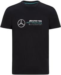 Koszulka mercedes amg petronas f1 logo czarna - czarny