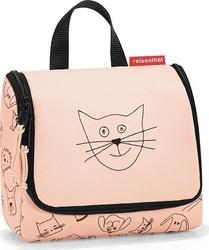 Kosmetyczka toiletbag s cats and dogs brzoskwiniowa