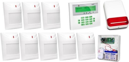 Zestaw alarmowy satel integra 32, klawiatura lcd, 8 czujników ruchu, sygnalizator zewnętrzny spl-2030 - możliwość montażu - zadzwoń: 34 333 57 04 - 37 sklepów w całej polsce