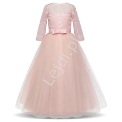 Wieczorowa długa sukienka dla nastolatki na wesele, na bal  022-1