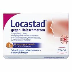 Locastad gegen Halsschmerzen Orange Lutschtabletten