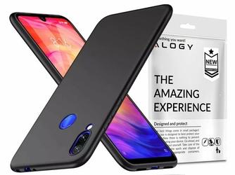 Etui silikonowe Alogy slim case do Xiaomi Redmi 7 czarne + Szkło Alogy