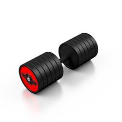 Hantla stalowa gumowana 50 kg czerwony połysk - marbo sport - 50 kg