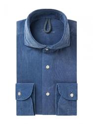 Męska niebieska koszula sztruks s