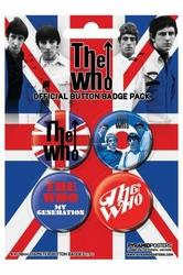 The Who Union Jack - zestaw 4 przypinek