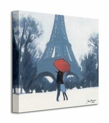 Snow Time For A Kiss - Obraz na płótnie