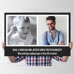 Obraz na płótnie prezent na urodziny 50x70 cm