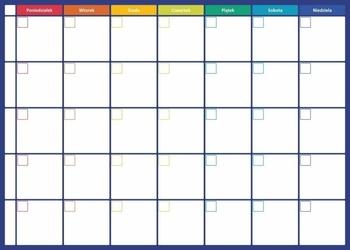 Plan tygodnia tablica suchościeralna 273