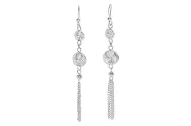 Długie modne srebrne kolczyki