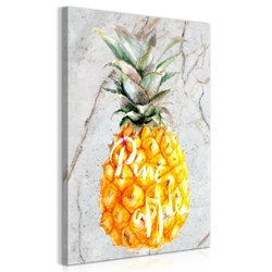 Obraz - ananas i marmur 1-częściowy pionowy
