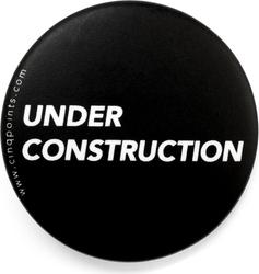 Przypinka czarna Badge Under Construction