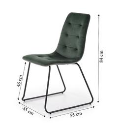 Krzesło do salonu belmer ciemnozielony
