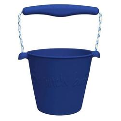 Zwijane wiaderko silikonowe scrunch-bucket, granatowe