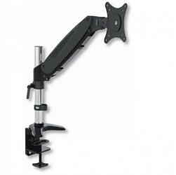 Techly ramię biurkowe z amortyzatorem gazowym monitor 15-27cali, 8kg, srebrno-czarne