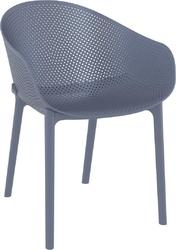 Krzesło sky z podłokietnikami szare - szary