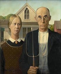 American gothic - plakat wymiar do wyboru: 61x91,5 cm