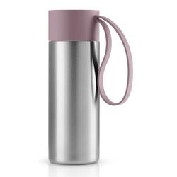 Eva solo - kubek termiczny to go cup 0,35l, troczek nordic rose - różowy || srebrny