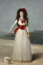 Reprodukcja the white duchess, francisco goya
