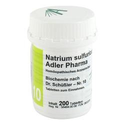 Biochemie adler 10 natrium sulf.d6 adl.ph. tabl.