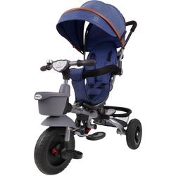 Junioria bonbon granatowy rowerek trójkołowy 4w1 obracany + prezent 3d
