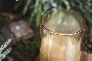 Świeca  w szkle led 7.3 x 12.5 cm złota