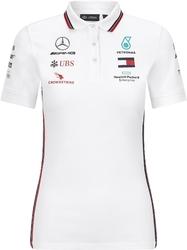 Koszulka polo damska mercedes amg petronas f1 2020 biała - biały