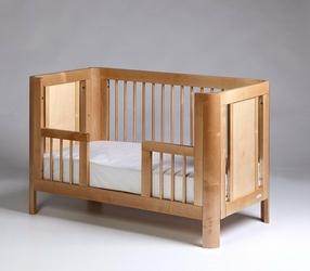 Wymienny bok do łóżeczka Sun 140x70 w kolorze naturalnym - Sun 140x70 toddler rail
