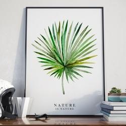 Nature is nature - plakat w ramie , wymiary - 70cm x 100cm, kolor ramki - czarny