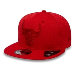 Czapka z daszkiem bejsbolowa new era 9fifty nba chicago bulls czerwona wodoodporna - 12040231 - chicago bulls