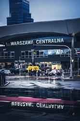 Warszawa centralna - plakat premium wymiar do wyboru: 40x50 cm