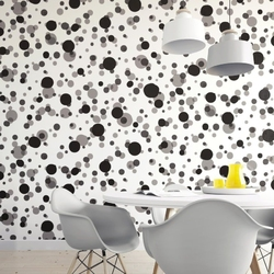 Tapeta na ścianę - dots party , rodzaj - tapeta flizelinowa