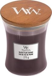 Świeca core woodwick black plum cognac średnia