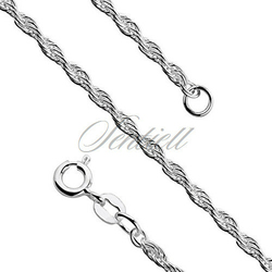 Łańcuszek ozdobny srebrny pr. 925 potrójny ankier  Ø 040 waga od 5,2g