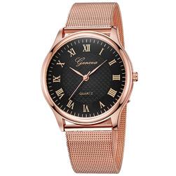 Zegarek GENEVA różowe złoto rzymskie cyfry SIMPLE