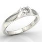 Pierścionek zaręczynowy z białego złota z brylantem 0,20ct bp-2620b