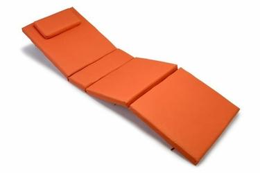 Poduszka na leżak ogrodowy, pomarańczowa