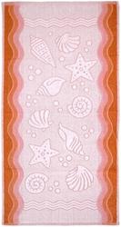 Ręcznik flora ocean greno brzoskwiniowy - brzoskwiniowy