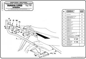 Givi 331f stelaż monorack yamaha xj900 diversion
