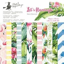 Papier Lets flamingle 15,3x15,3 cm - zestaw