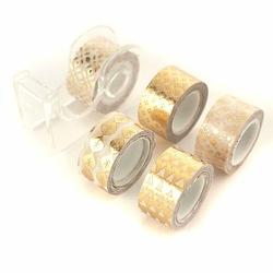 Taśma dekoracyjna złota 12 mm3m - 5 sztuk - złoty
