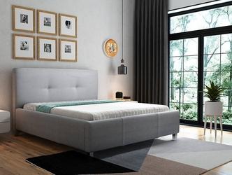 Tapicerowane łóżko do sypialni sara 180x200