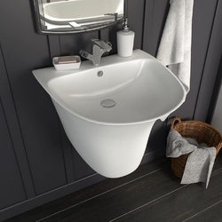 Vidaxl umywalka ścienna, ceramiczna, biała, 470 x 450 x 370 mm
