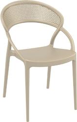 Krzesło sunset beżowe - beżowy