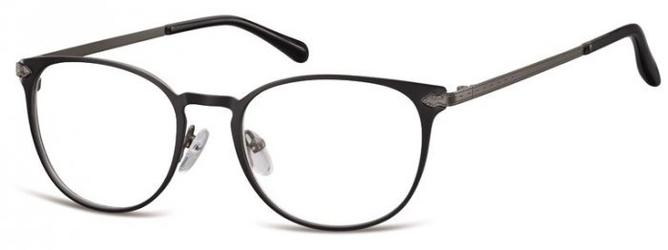 Oprawki damskie kocie oczy stalowe sunoptic 992a czarno grafitowe