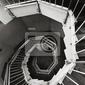 Fototapeta spiralne schody widok z góry